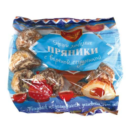 Пряники с вареной сгущенкой/Medenjaki s kuhanim kondenziranim mlekom. Хлебодар.