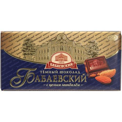 Шоколад с цельным миндалем/Čokolada s celimi mandlji 100 g. Бабаевский
