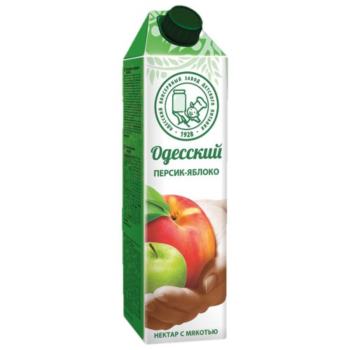 Нектар персик-яблоко /Breskovo-jabolčni nektar 1l. Одесский.