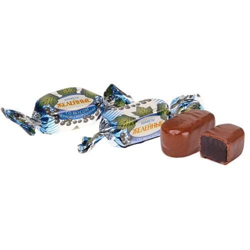 Желейные конфеты Черная смородина/Jelly bonboni Črni ribez.
