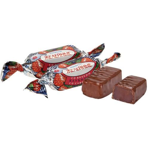 Желейные конфеты со вкусом клубника со сливками/ Jelly bonboni z okusom jagode in smetane