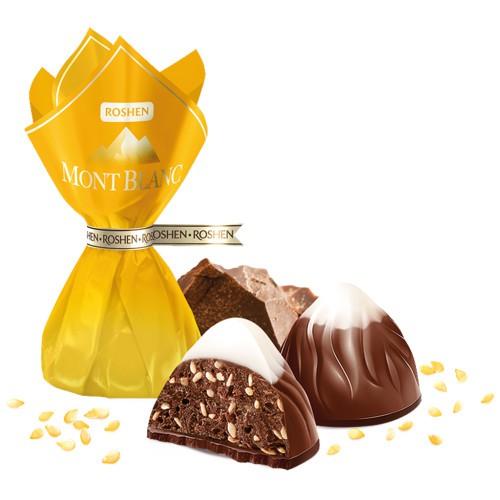 Конфеты Монблан с кунжутом / Bonboni Mont Blanc s sezamom. Roshen.