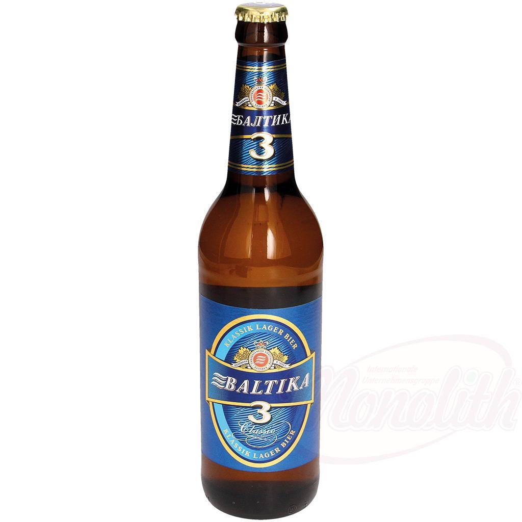 Пиво Балтика N3 /Pivo Baltika N3 al.4,8% , 500ml.