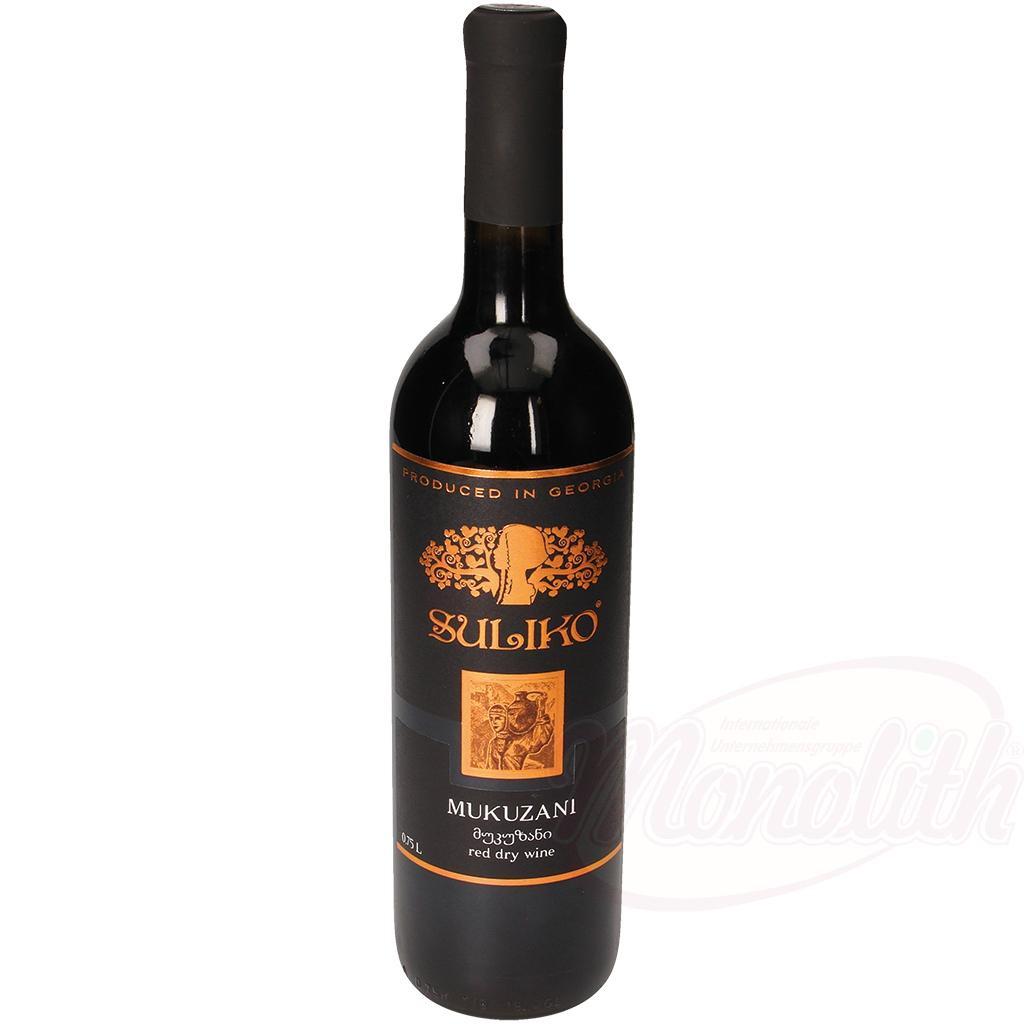Вино Мукузани кр./Vino Mukuzani rd. al.11,5%, Suliko