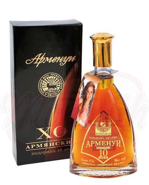"Armensko brandz ""Armenui"", staro 10 let, 40% alk./Армянский коньяк ""Арменуи"" выдержка 10 лет 40% алк."
