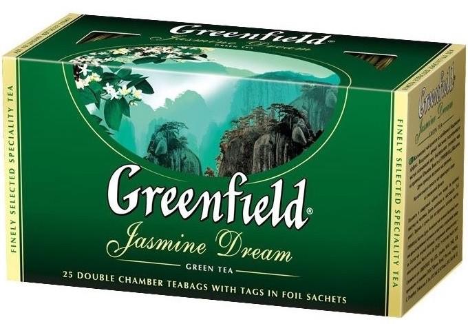 Чай Greenfield зел.листовой Жасмин Дрим/Greenfield čaj zeleni list Jasmine Dream 25 * 2g