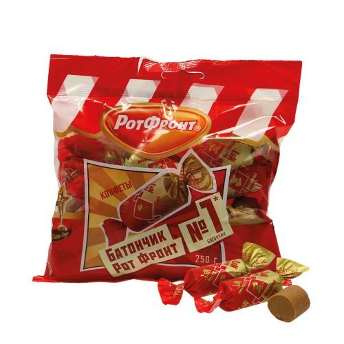 Конфеты в упаковке Батончик/ Pakirane sladkarije Batončiki. РотФронт.