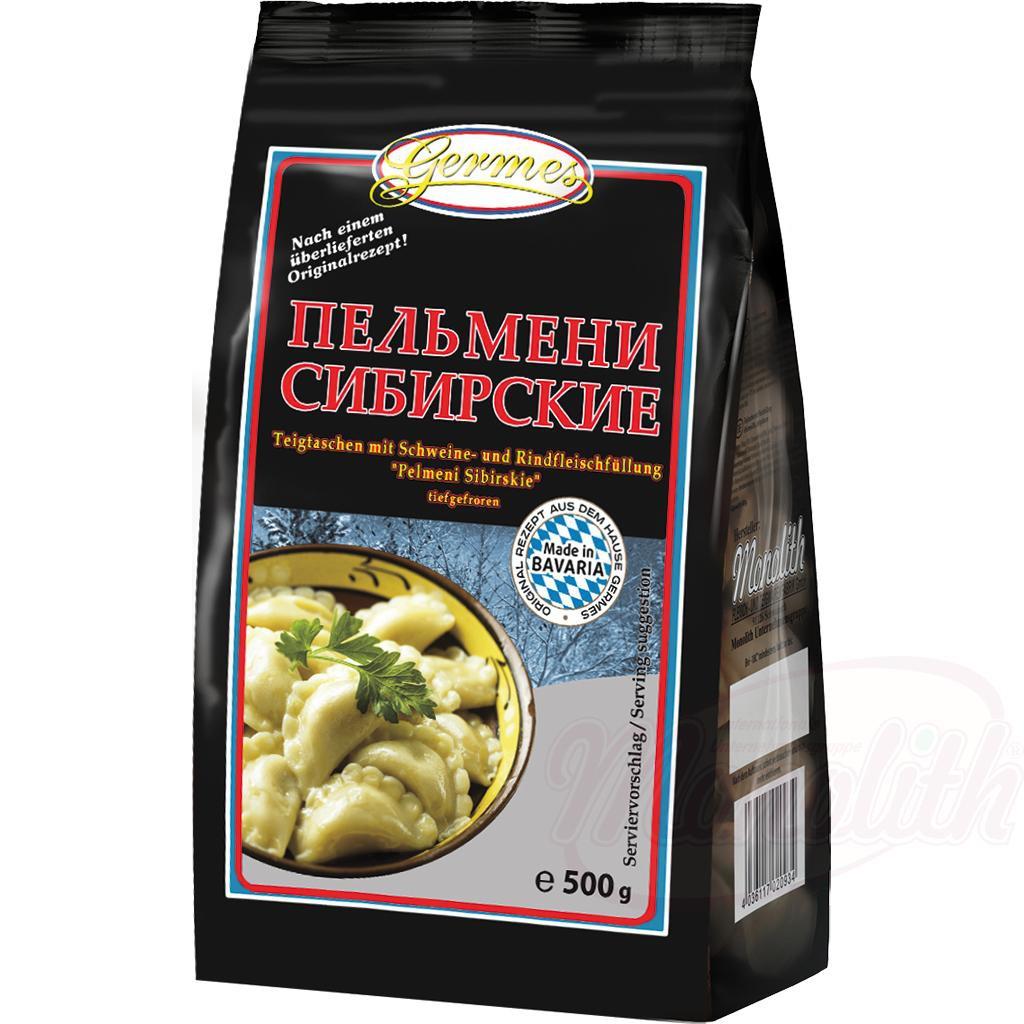 Cmoki, polnjeni s svinjino in govedino 500gr/Пельмени с начинкой из свинины и говядины
