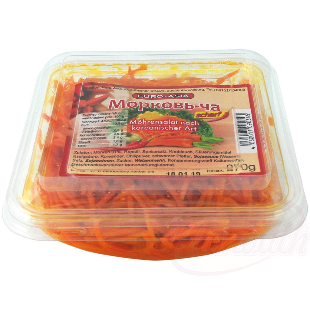 Морковный салат по корейски, острый/Korejska solata iz korenja, začinjena 270gr.