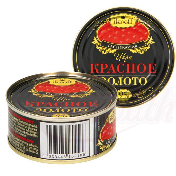 "Rdeči kaviar ""Rdeče zlato""95gr./Икра красная ""Красное золото"""