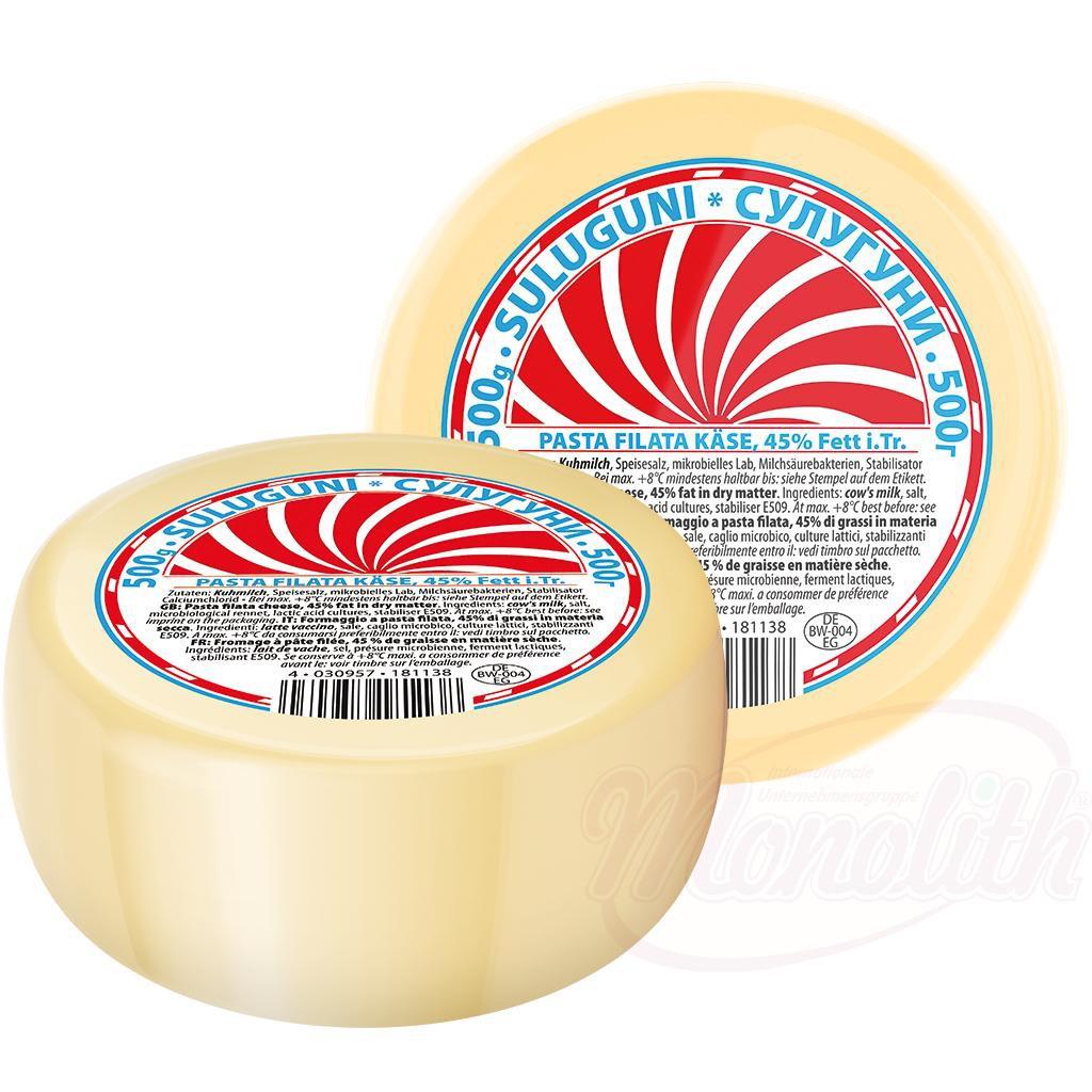 "Сыр ""Сулугуни"" 45% жирности/Sir ""Suluguni"" 45% maščobe 500gr."