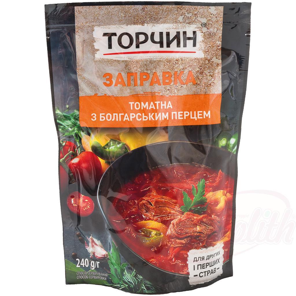 Заправка для борща томатная с болгарским перцем/Paradižnikov borsch dressing z bolgarskim poprom 215gr.