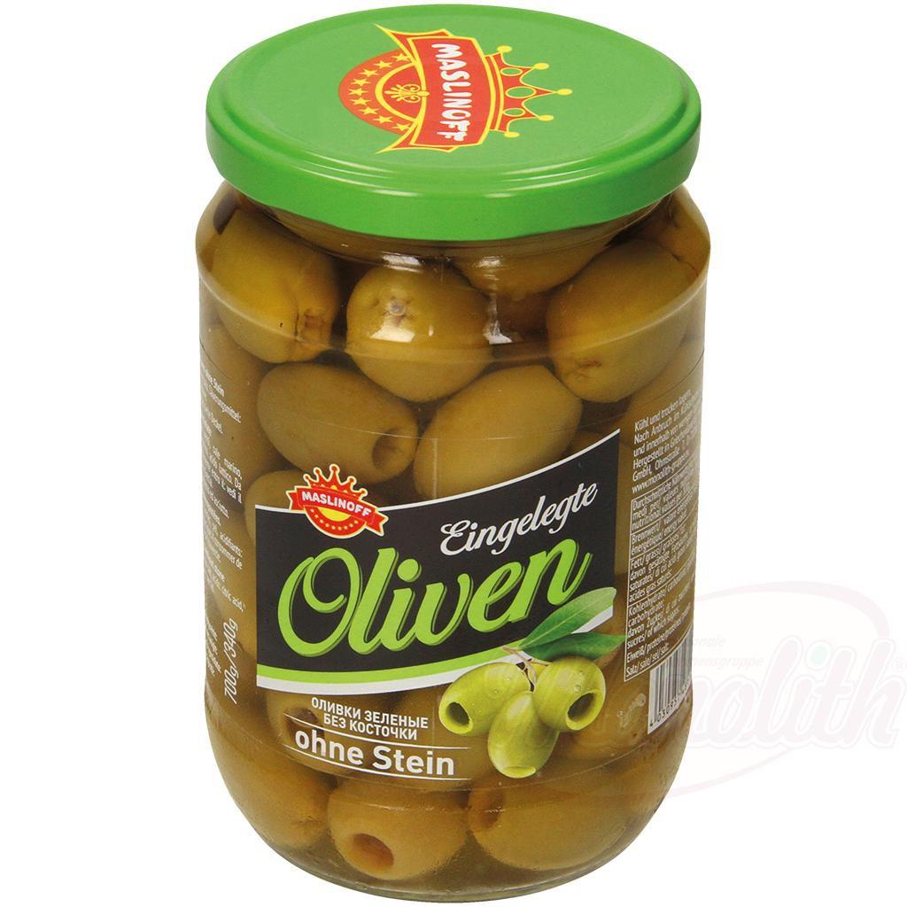 Оливки зеленые без косточки/Zelene oljke brez koščic 700ml.