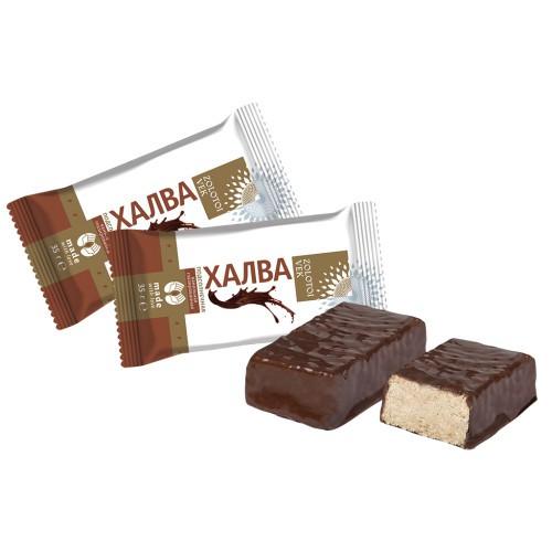 Конфеты Халва шоколадная/ Bonboni Halva čokoladna. Zolotoj vek.