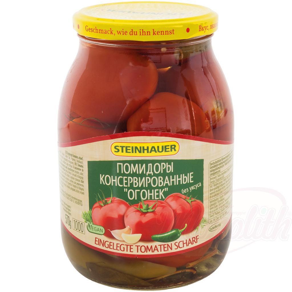 "Помидоры консерванные ""Огонeк"" без уксуса/Konzervirani paradižnik ""Ogonek"" brez kisa 1000ml."