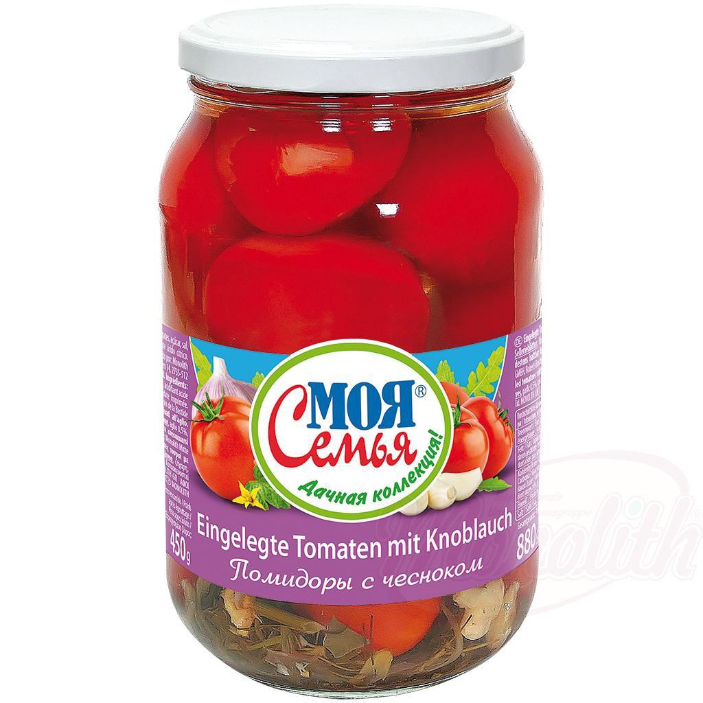 Маринованные помидоры с чесноком/Vloženi paradižniki s česnom