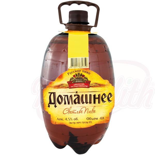 """Пиво светлое """"Домашнее"""", 4,5% алк./Svetlo pivo """"Domašnee"""", 4,5% alk."""