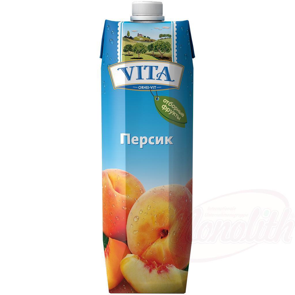 "Нектар персиковый ТМ ""Vita""/Breskov nektar TM ""Vita"""