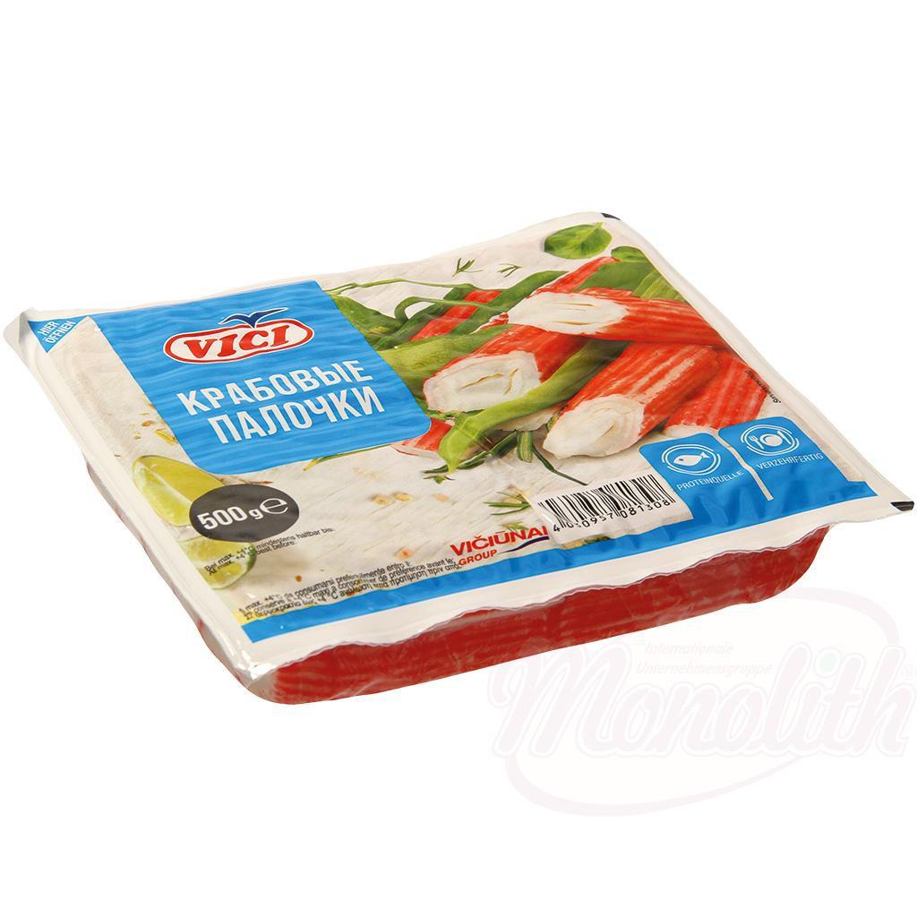 Крабовые палочки замороженные/Zamrznjene rakovice 500 gr.