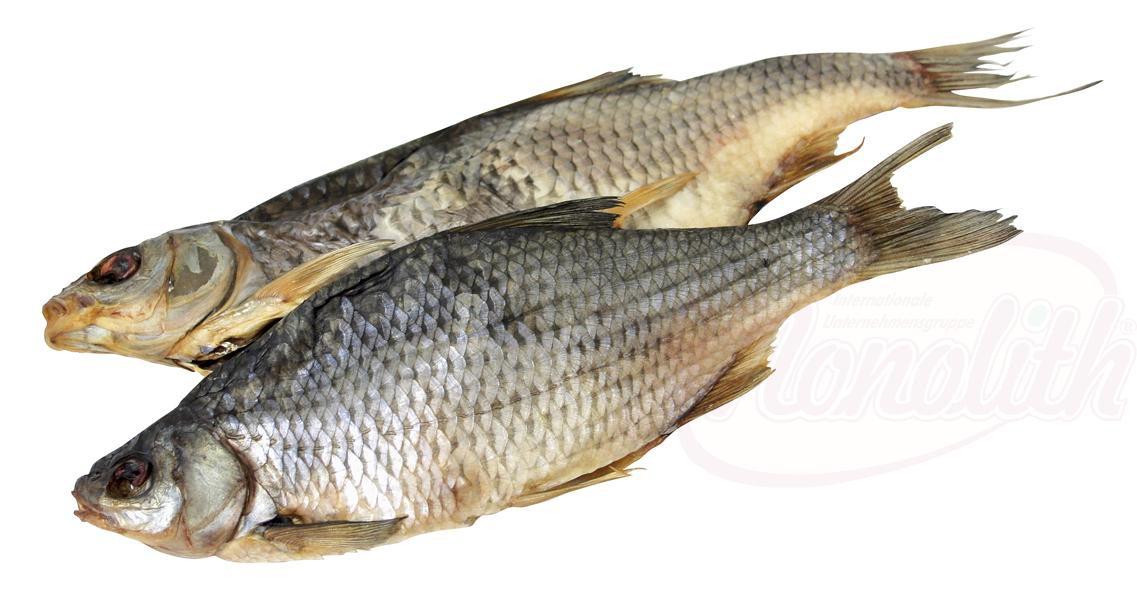Roach, posušen, brez drobovja, očiščen/Плотва сушeная потрошeная, очищенная