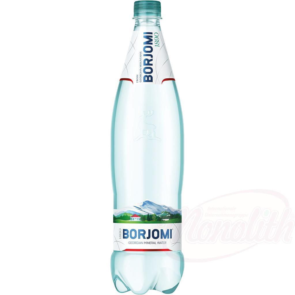"Peneča mineralna voda ""Borjomi""1 l./Газированная минеральная вода ""Боржоми"""