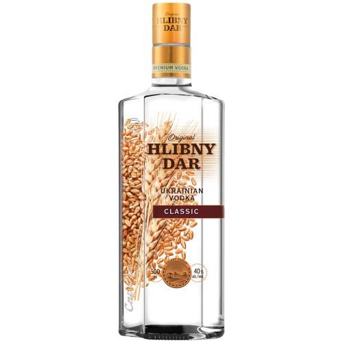 Водка Хлебный дар/ Vodka Hlebni dar al. 40%; 0,5 L.