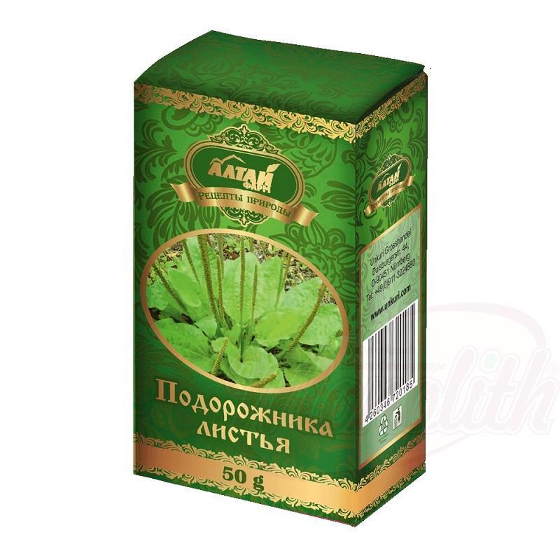 Listi trpotca/Подорожника листья Altaj 50g