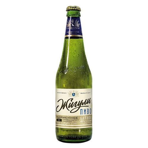"""Пиво Жигулевское барное экспорт"""" 4,8% алк.'/ Pivo Žigulevskoje Export4,9 %;"""
