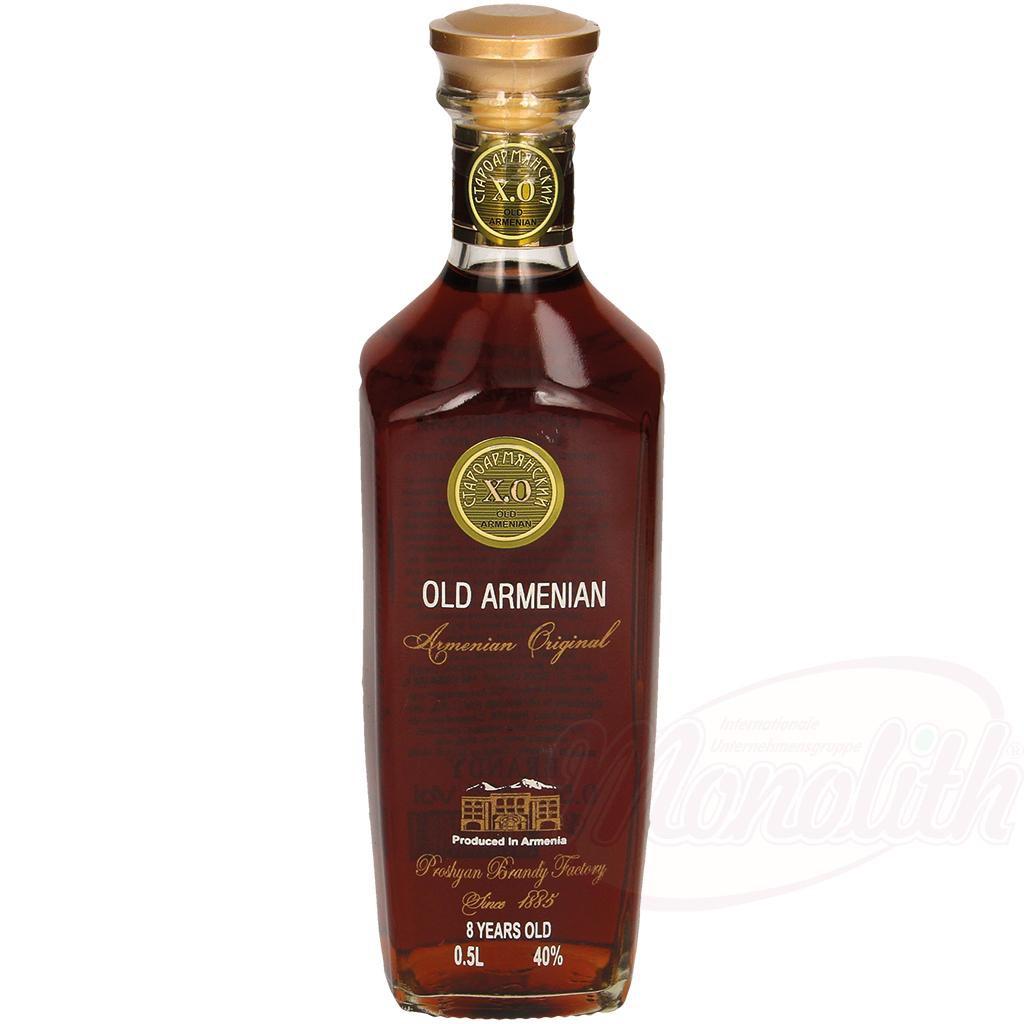 "Armenski konjak ""Old Armenian"", star 8 let, 40% alk./Армянский коньяк ""Old Armenian"" выдержка 8 лет 40% алк."
