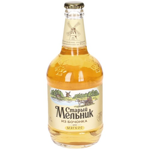 Пиво Старый мельник Мягкое/Pivo Starij melnik mehko ; al.4,3%