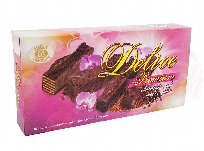"""Delis vrhunska čokoladno-vafeljska torta/Шоколадно-вафельный торт """"Делис премиум"""""""