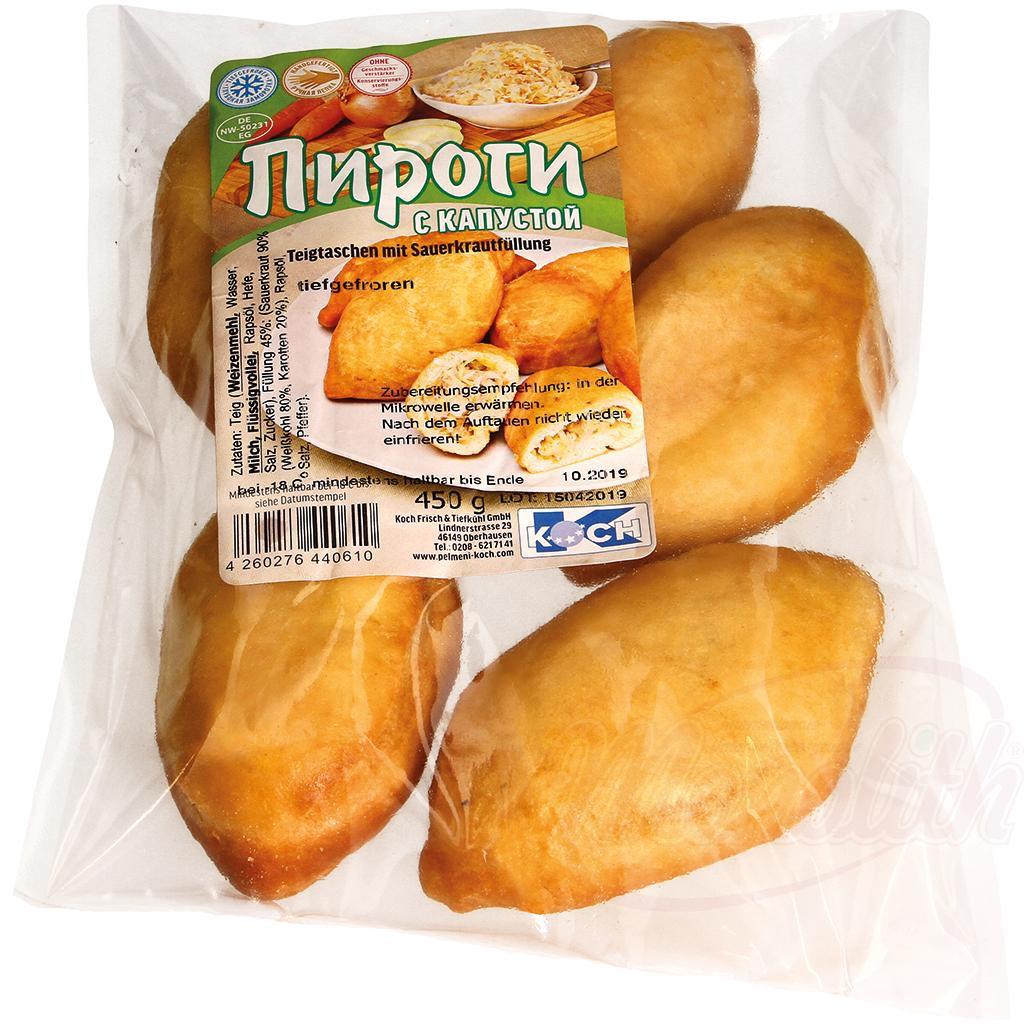 Kolačke s kislim zeljem, zamrznjene/Пирожки с кислой капустой, замороженные