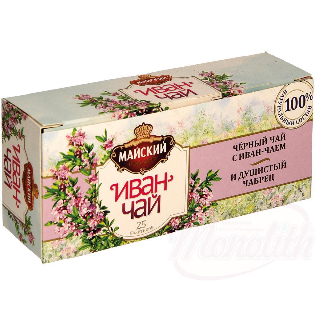 Črni čaj z ozkolistnim čempresom in timijanom/Черный чай с кипрем узколистовым и чабрецом