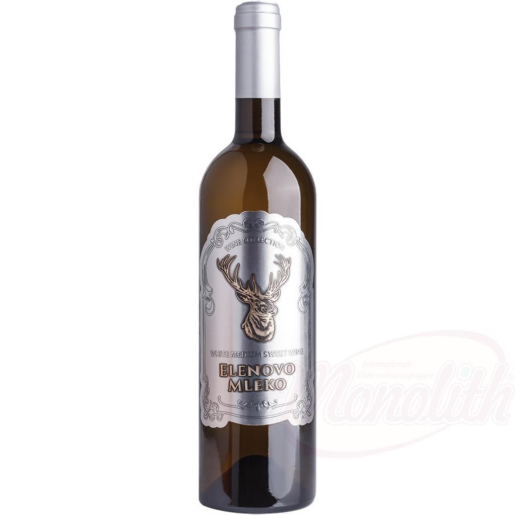 "Vino ""Elenovo Mleko"", belo sladko, 11,5% alk./Вино ""Elenovo Mleko"", белое сладкое, 11,5% алк."