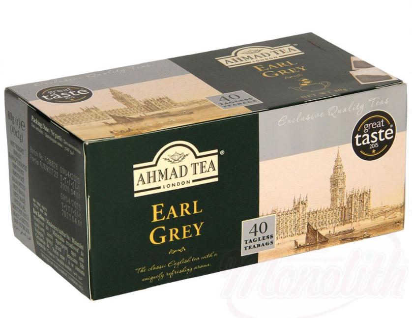 "Majhen črn dolg čaj z okusom bergamotke ""Earl Grey"" v vrečkah 40x2g/Чай черный байховый мелкий с ароматом бергамота ""Earl Grey"" в пакетиках 40x2г"