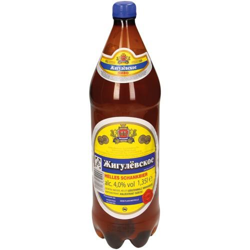 Пиво Жигулевское / Pivo Žigulevskoje al. 4 %; 1,35L.