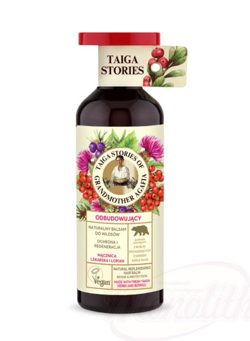 Sibirski ,naravni balzam za lase Bearberry in repinca/Натуральный бальзам для волос Толокнянка и репейник
