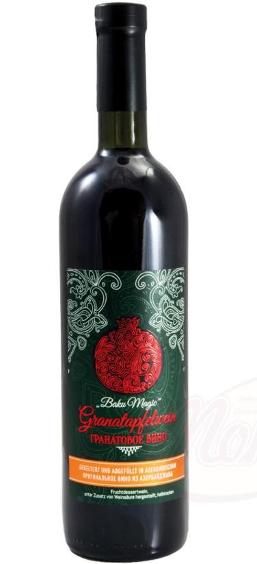"""Vino iz granatnega jabolka """"Baku Magic"""" sadno sladico vino,"""