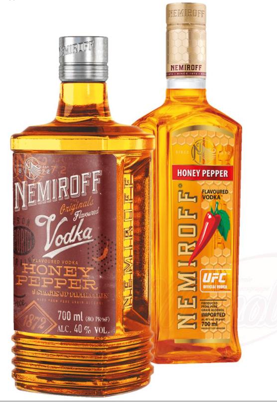 """Vodka """"Nemiroff"""" ukrajinski med s poprom 40% alk., 0,7L"""