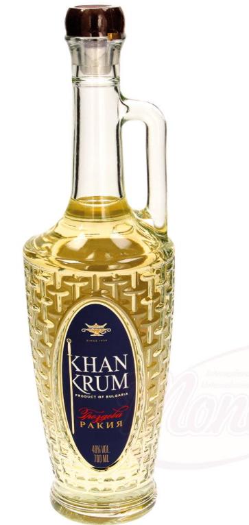 "Grozdno žganje ""Khan Krum"", 40% alk./Виноградная ракия ""Хан Крум"", 40 % алк.0,7l"