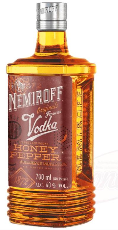 """Vodka """"Nemiroff"""" ukrajinski med s poprom 40% alk, 0,7L"""