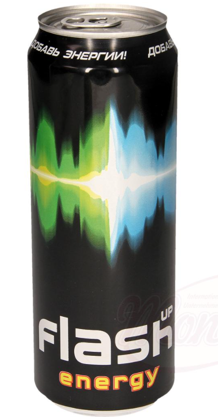 """Brezalkoholna brezalkoholna pijača tavrin in kofein """"Flash Up Energy Drink"""" z vitamini in aromo/""""Flash Up Energy Drink"""" безалкогольный таурин и кофеинсодержащий безалкогольный напиток с витаминами и ароматом."""