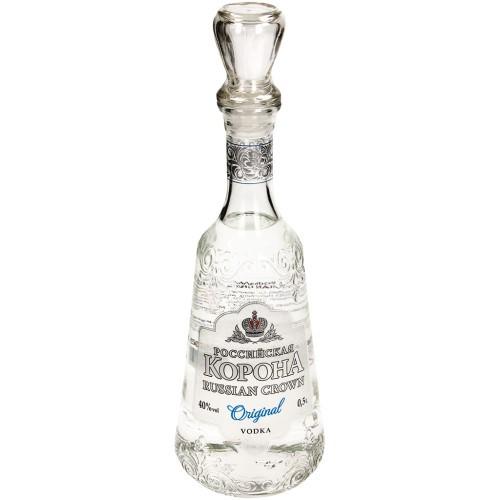 Водка Российская корона оригинальная/ Vodka Ruska krona original al.40%; 0,5L.