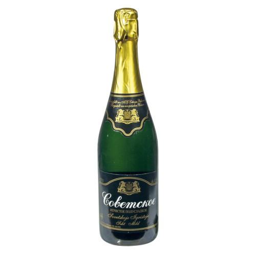 Шампанское Советское полусладкое/Šampanjec sovjetski polsladki al. 11,5%