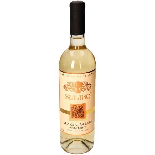 Вино Алазанская долина, белое /Vina Alazani Valley, belo,polsladko Suliko.