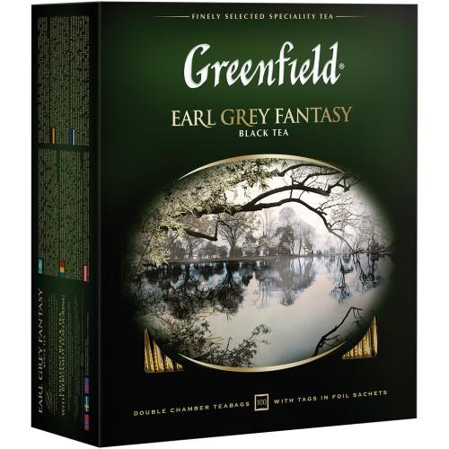 Чай Гринфилд Эрл грей /Greenfield Earl grey fantasy čaj 100v.