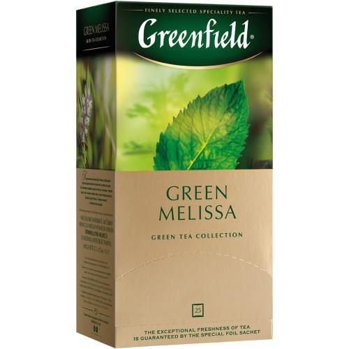 Чай Гринфилд Зеленая мята/Greenfield čaj Melissa Green 25v.