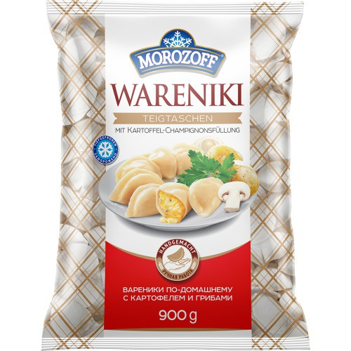 Vareniki s krompirjevim in gobjim nadevom 900 gr. Morozoff/ Вареники с картофельно-грибной начинкой