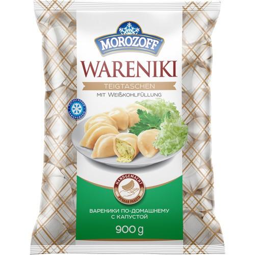 Vareniki polnjeni z belim zeljem 900 gr. Morozoff/Вареники с начинкой из белокочанной капусты