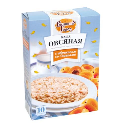 Каша Овсяная с абрикосом и сливками/Ovsena kaša z marelico in smetano 10*41 g. Вышний город.